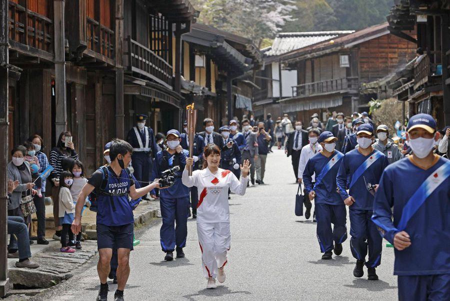 Torța olimpică a fost ieri în prefectura Nagano FOTO Imago Images