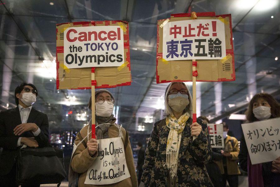 Niponii protestează contra găzduirii JO la Tokyo FOTO Guliver/GettyImages