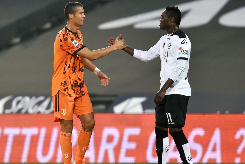 Cristiano Ronaldo și Emmanuel Gyasi // foto: Guliver/gettyimages