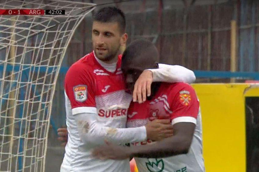 Hermannstadt - FC Argeș // foto: captură @ TV Telekom Sport