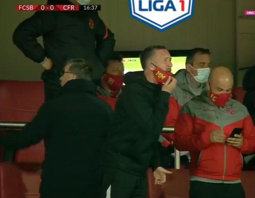 FCSB a deschis scorul în minutul 19 al partidei cu CFR Cluj, printr-un penalty transformat de Florin Tănase. La aceeași fază, azdele au cerut și cartonaș roșu pentru Andrei Burcă.