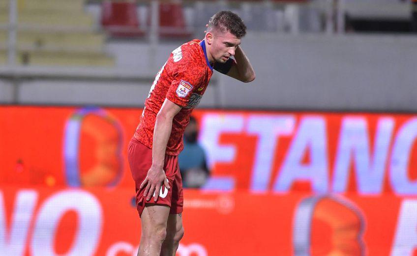 """Florin Tănase, golgeterul lui FCSB, a încasat al 4-lea """"galben"""" din play-off în partida cu CFR Cluj și va fi suspendat pentru următorul joc al bucureștenilor, cu FC Botoșani."""