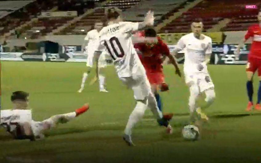 CFR Cluj a cerut penalty în minutul 80 al meciului cu FCSB, la scorul de 1-0 pentru roș-albaștri.