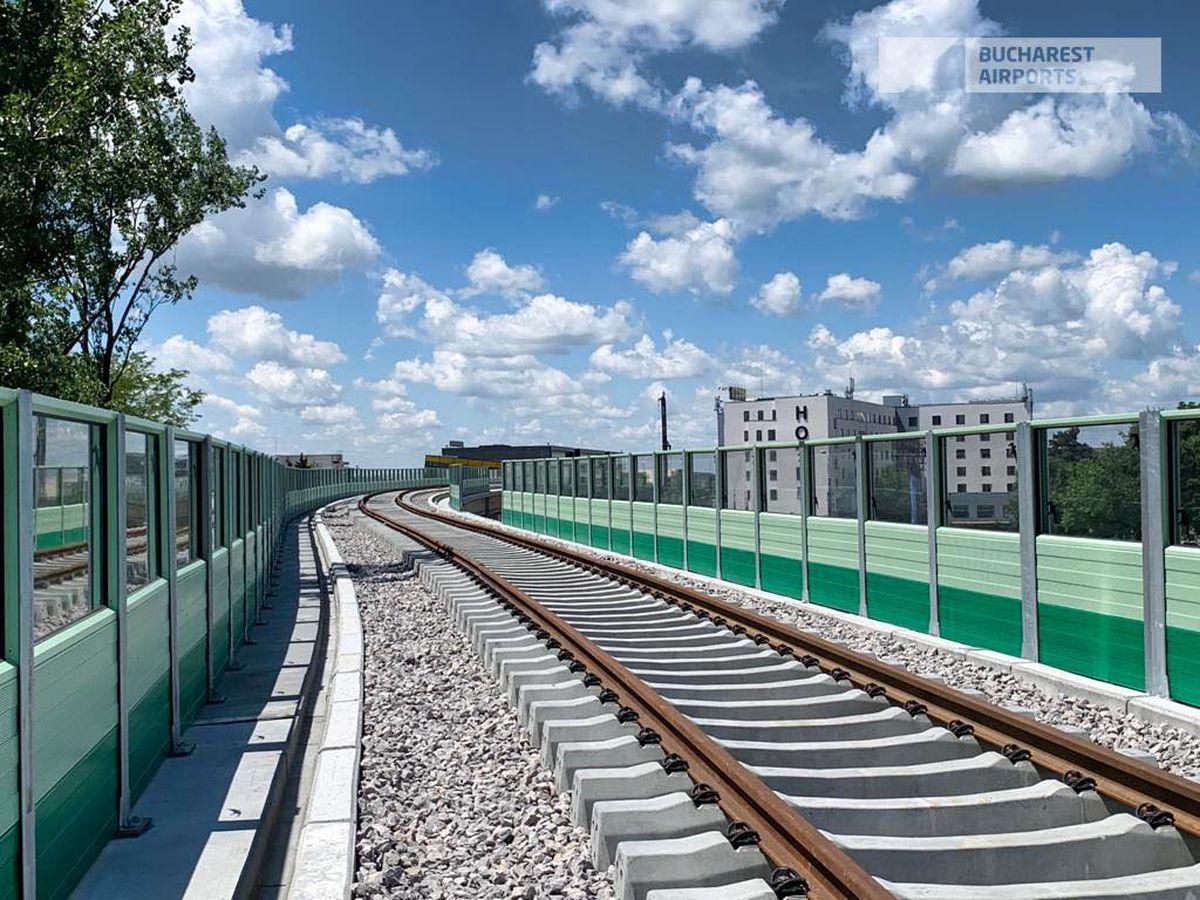 FOTO Imagini impresionante cu calea ferată Otopeni - Gara de Nord! Când se vor finaliza lucrările