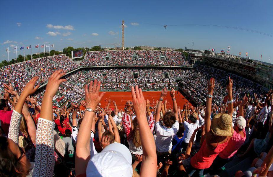 S-a stabilit că accesul spectatorilor în tribune la Roland Garros va fi permis într-un procent de 50-60%. foto: Guliver/Getty Images