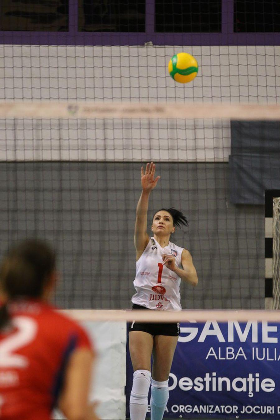 Ioana Baciu va servi anul acesta cu Blajul doar în Challenge Cup FOTO Raed Krishan