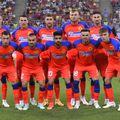 Roș-albaștrii pozau mândri înaintea dublei cu Șahtior Karagandî, care avea să le aducă însă cea mai mare umilință din istoria FCSB, dar și daune majore în plan financiar // foto: Imago