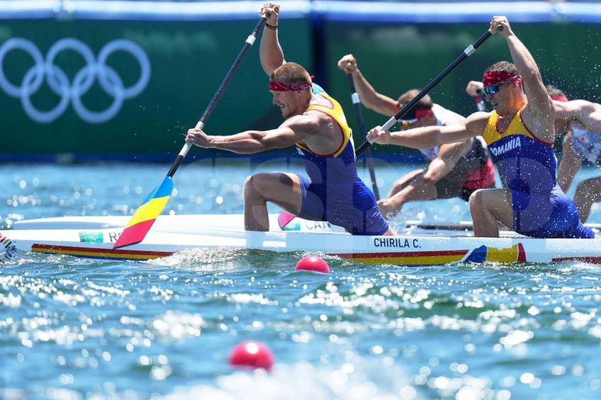 Victor Mihalachi și Cătălin Chirilă, canoea de dublu a României, nu au reușit să ajungă la podium la Tokyo, foto: Raed Krishan