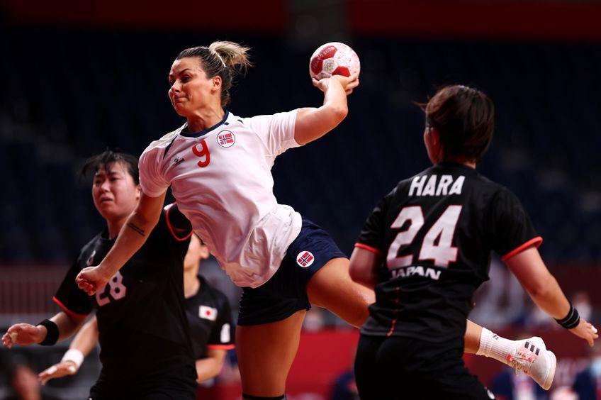Nora Mork, una dintre handbalistele-vedetă ale Norvegiei, echipă care înfruntă Ungaria în