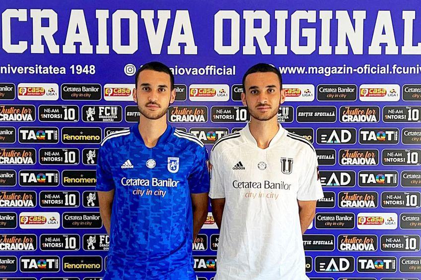 Darius și Denis Boldu // foto: Facebook @ Fotbal Club Universitatea 1948