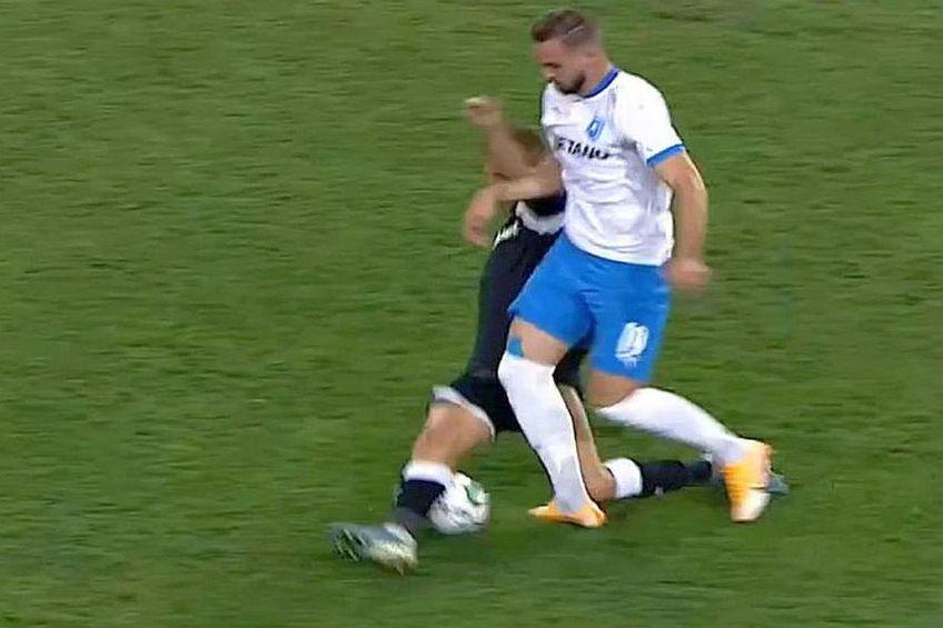 Momentul accidentării lui Elvir Koljic