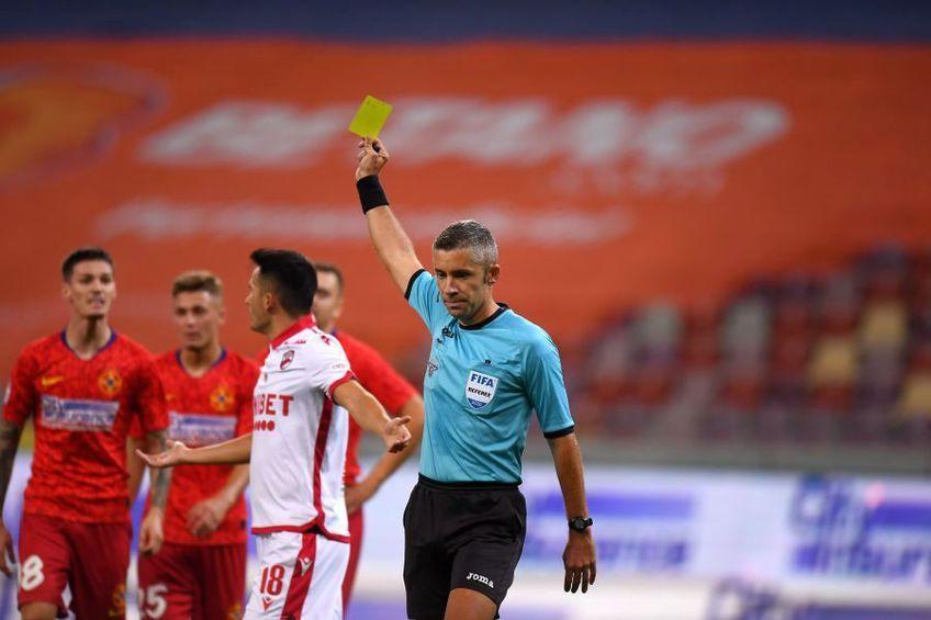 Radu Petrescu a luat o decizie intens contestată în derby-ul FCSB  Dinamo. foto: Raed Krishan