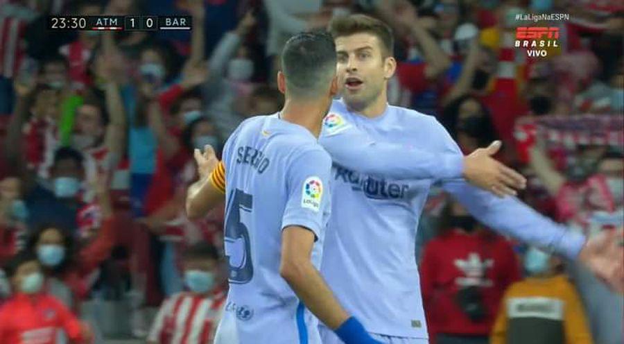 Nervi și certuri la Barcelona după primul gol marcat de Atletico! Contre între Pique și Busquets + pe cine a găsit vinovat Koeman
