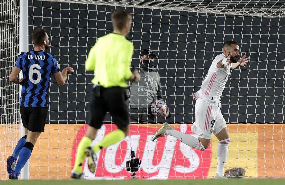 Real Madrid a beneficiat de o mare eroare în apărarea italienilor la golul lui Karim Benzema
