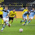 Ciro Immobile a egalat pentru Lazio din penalty în meciul cu Borussia Dortmund, 1-1 // foto: Imago