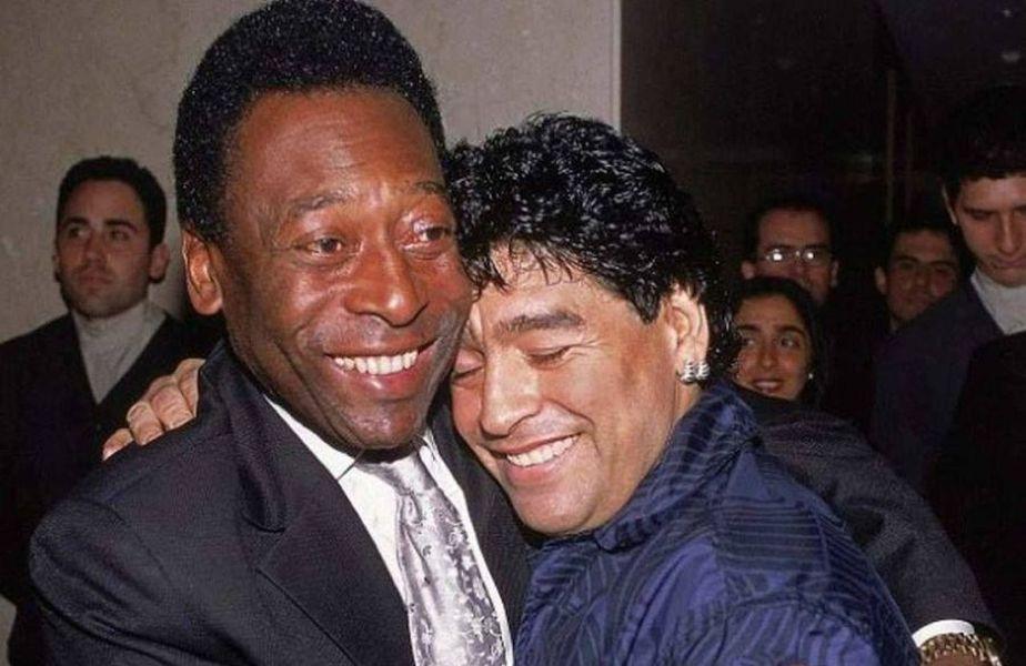 Pele și Diego Maradona