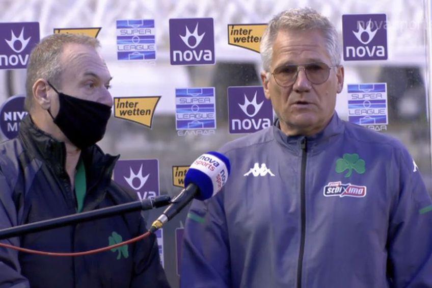 Ladislau Boloni (dreapta), antrenor Panathinaikos // foto: captură NovaSports
