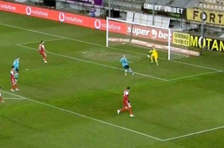 Fază absurdă în Chindia - FC Botoșani: autogol uluitor în prima repriză