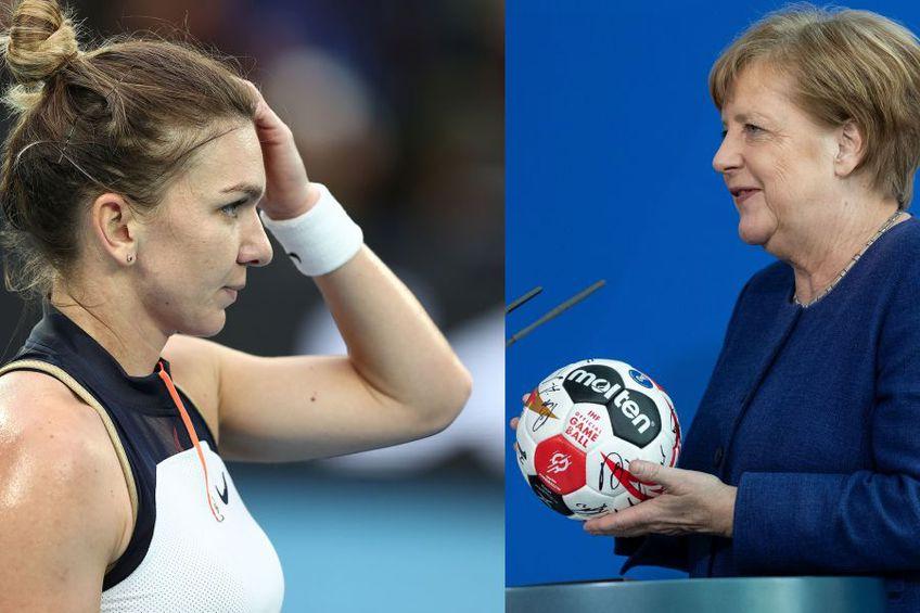 Simona Halep e favorita Angelei Merkel