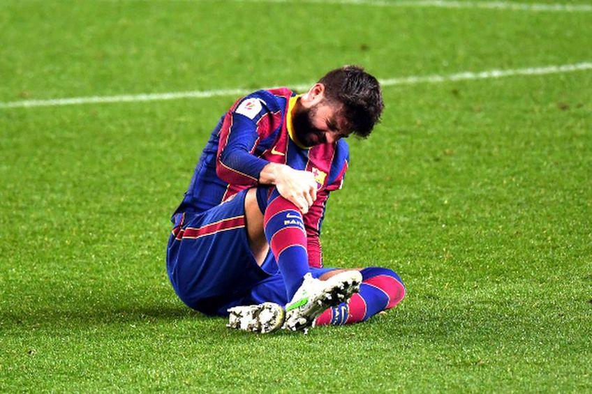 Gerard Pique, accidentat în Barcelona - Sevilla // foto: Guliver/gettyimages