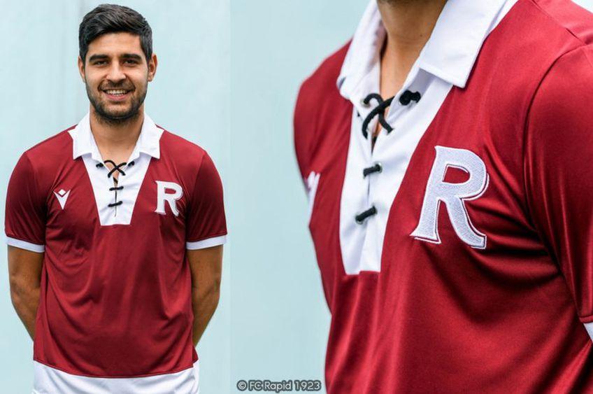 Rapid produce o ediție limitată de tricouri vintage // sursă foto: FC Rapid 1923