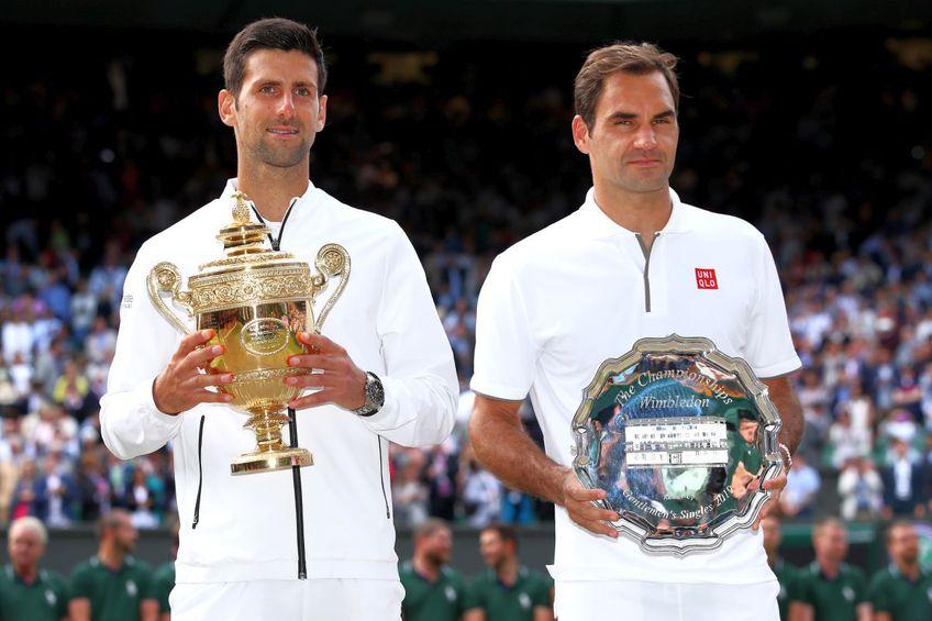 Djokovic îl conduce pe Federer cu 27-23 în raportul meciurilor directe. FOTO: Guliver/Gety Images