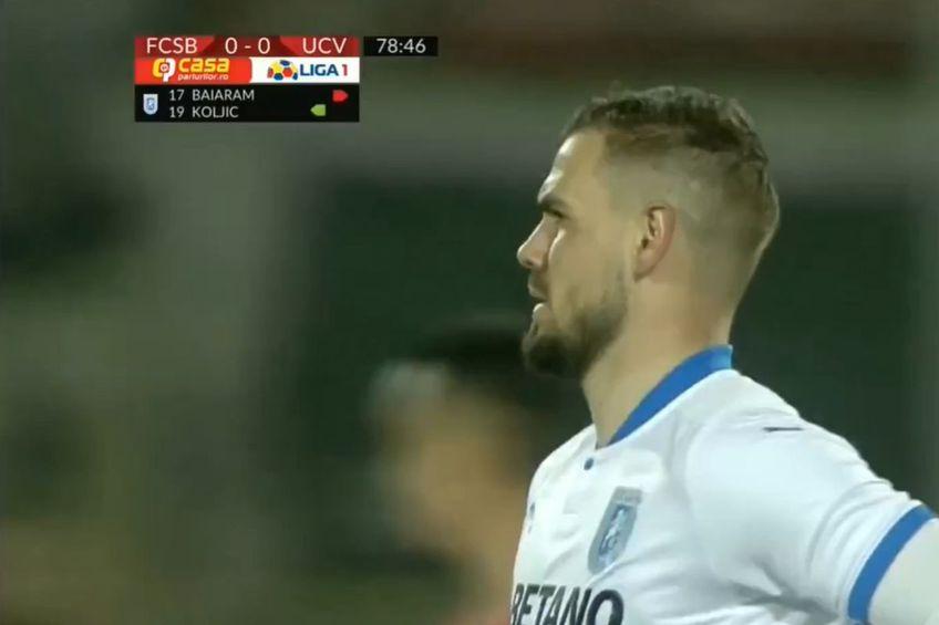 În minutul 79 al meciului FCSB - Craiova, derby-ul rundei cu numărul 29 din Liga 1, la 0-0, Elvir Koljic (25 de ani, atacant) a revenit pe teren la olteni după o pauză de 6 luni!