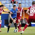 Raul Albentosa (în stânga) a impresionat la Dinamo și ar putea continua și din vară. Sursă foto: fcviitorul.ro