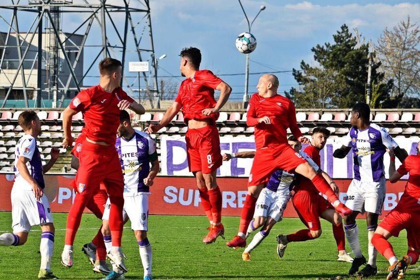 Chindia impresionează în acest play-out și o depășește și pe FC Argeș, altă surpriză a campionatului. Sursă foto: Facebook FC Argeș