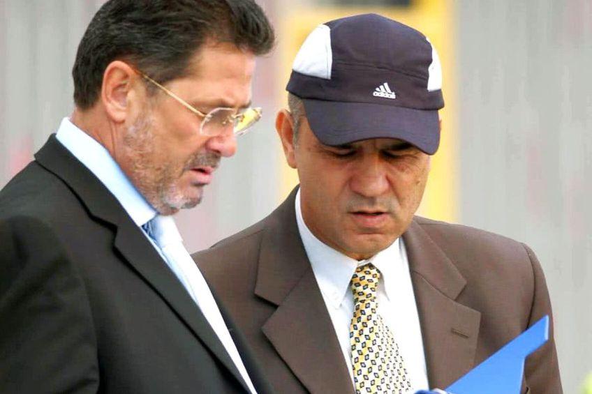 Cornel Dinu și Anghel Iordănescu