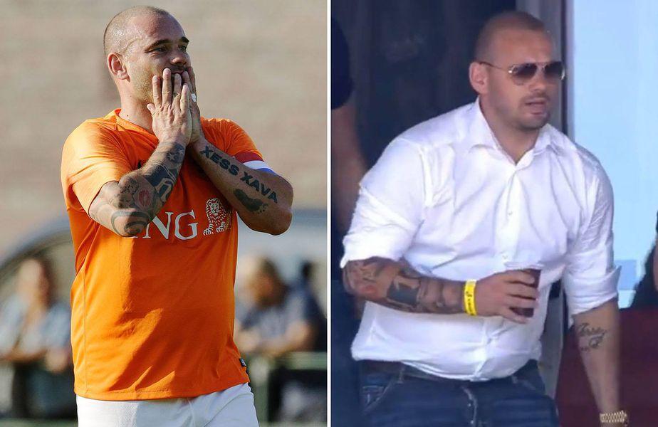 Wesley Sneijder vrea să revină pe gazon la un an de la retragere, dar are o problemă. E gras!