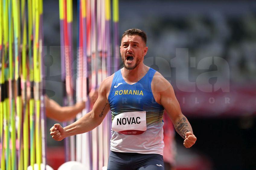 Sulițașul român Alexandru Novac  s-a calificat în finala olimpică de la Tokyo // FOTO: Raed Krishan