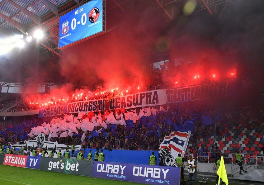 Fanii steliști au comis derapaje xenofobe în timpul meciului cu Csikszereda, din prima etapă a ligii secunde. Foto: Cristi Preda