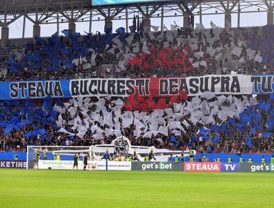Războiul dintre Gigi Becali și Peluza Sud atinge cote extreme » Moment macabru la Steaua - Csikszereda