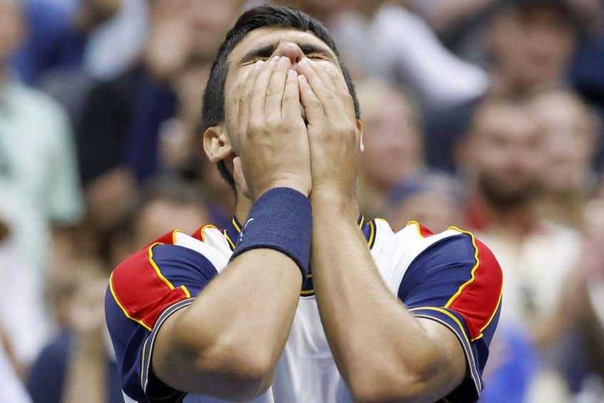 Carlos Alcaraz și un moment pe care nu-l va uita prea curând / Sursă foto: Imago Images