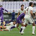 Louis Munteanu (18 ani) a marcat un gol superb în meciul dintre Fiorentina Primavera și AS Roma Primavera, scor 2-3.
