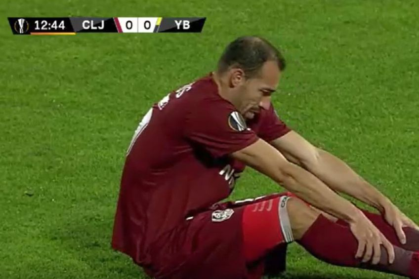 Paulo Vinicius s-a accidentat în meciul dintre CFR Cluj și Young Boys, 1-1