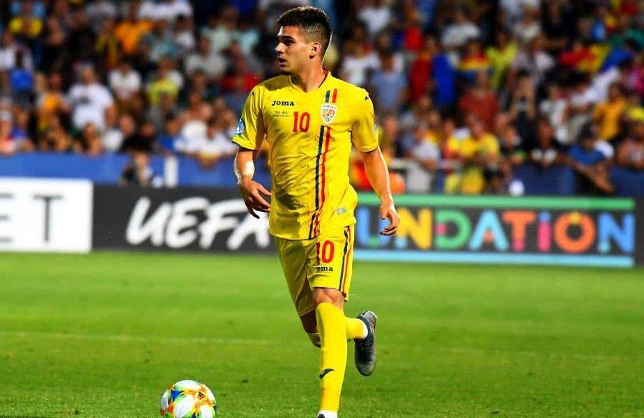 Ianis Hagi (22 de ani), mijlocaș la Rangers, va face parte din lotul României U21 pentru meciul decisiv cu Danemarca U21,