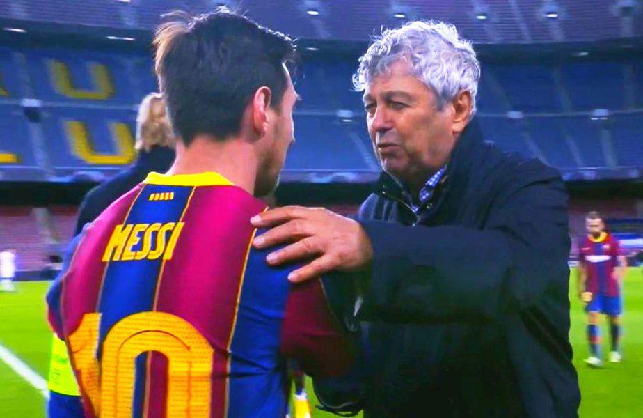 Mircea Lucescu (75 de ani) i-a adresat o rugăminte lui Leo Messi (33 de ani) la finalul partidei dintre Barcelona și Dinamo Kiev, scor 2-1, în grupele Ligii Campionilor.