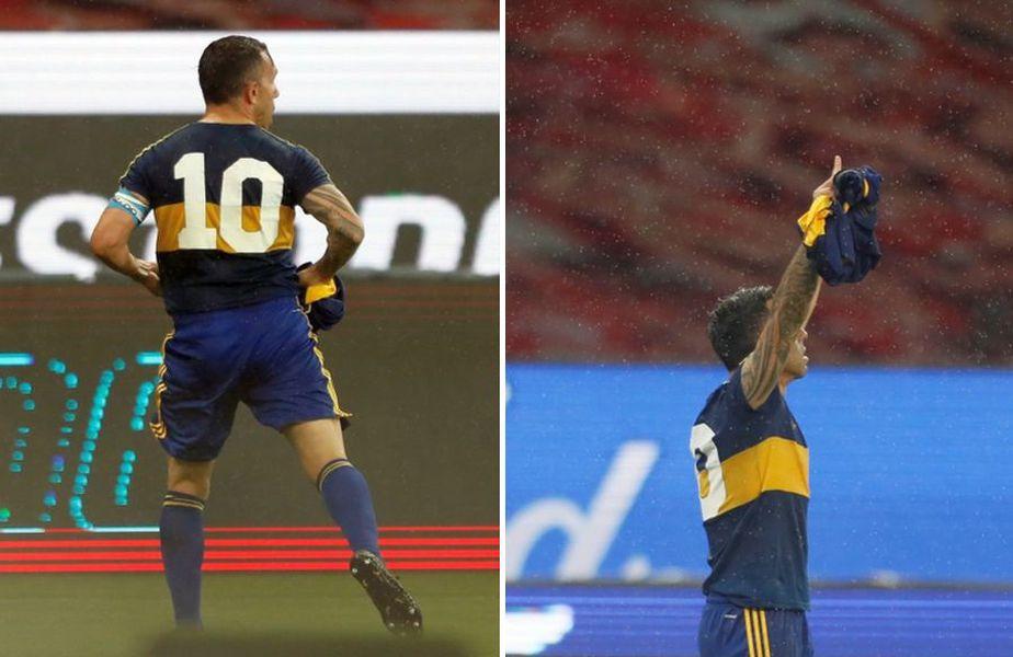 Carlos Tevez, după golul marcat cu Internacional // foto: Twitter @ _CarlitosTevez