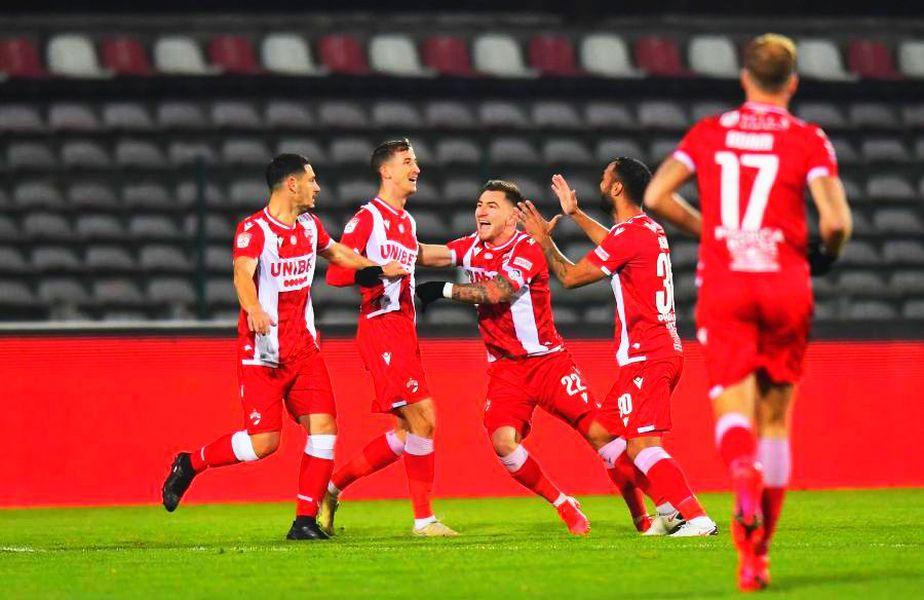 """Dinamo a învins-o pe FC Argeș, în deplasare, scor 1-0 (Camara '7). """"Câinii"""" au ajuns la 3 victorii consecutive în toate competițiile."""