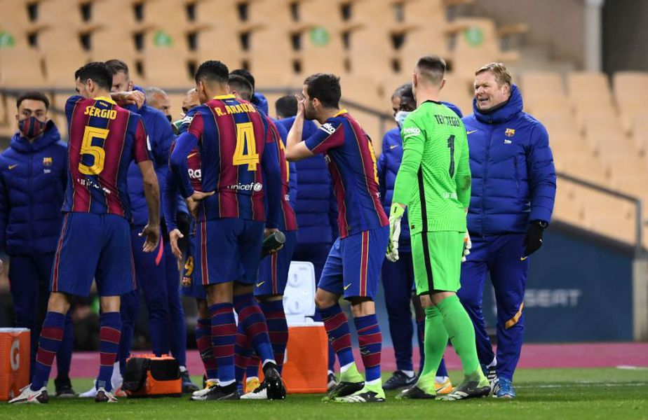 Ronald Koeman, 57 de ani, antrenorul celor de la Barcelona, a fost jignit în mod grosolan de Roberto Soldado (35 de ani)