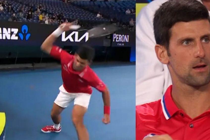 Criza de nervi a lui Novak Djokovic / Sursă foto: Captură ESPN Tennis