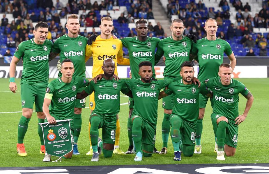 Ludogorets, în meciul de Europa League contra Espanyol // foto: gettyimages