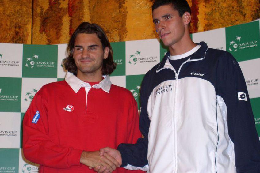 Imagini de la confruntarea România - Elveția din 2004 / Sursă foto: Arhivă Gazeta Sporturilor