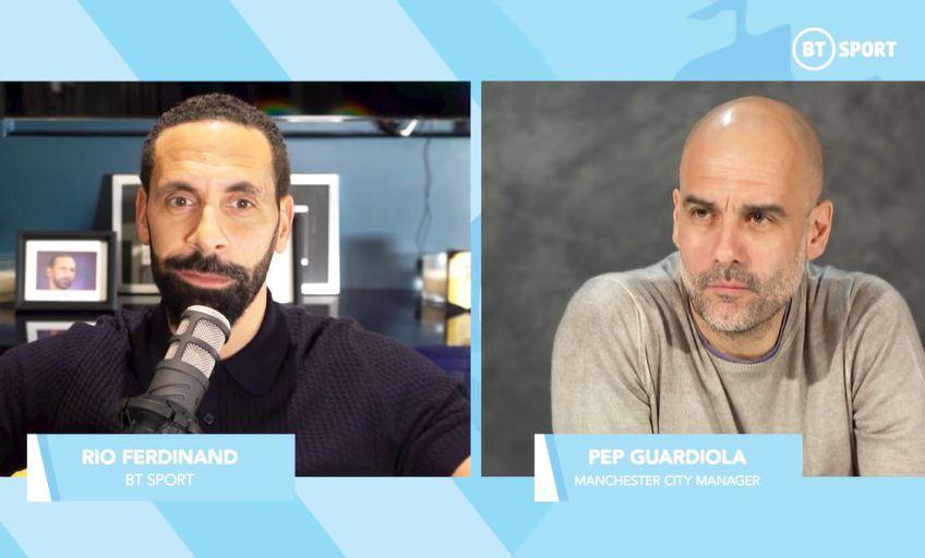 Pep Guardiola, interviu de impact cu Rio Ferdinand