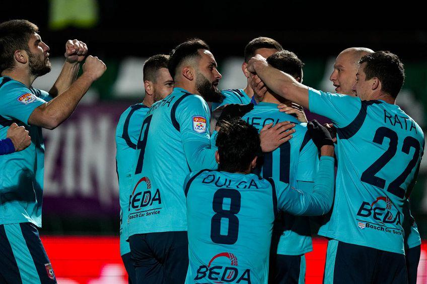 Chindia a învins-o pe Sepsi, scor 1-0, în primul meci al rundei #26 din Liga 1. FOTO: facebook.com/chindiaoficial