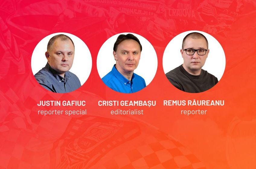 Derby-ul CFR Cluj - Dinamo, comentat pe GSP.ro de Justin Gafiuc (reporter special GSP), Cristian Geambașu (editorialist GSP) şi Remus Răureanu (reporter GSP).