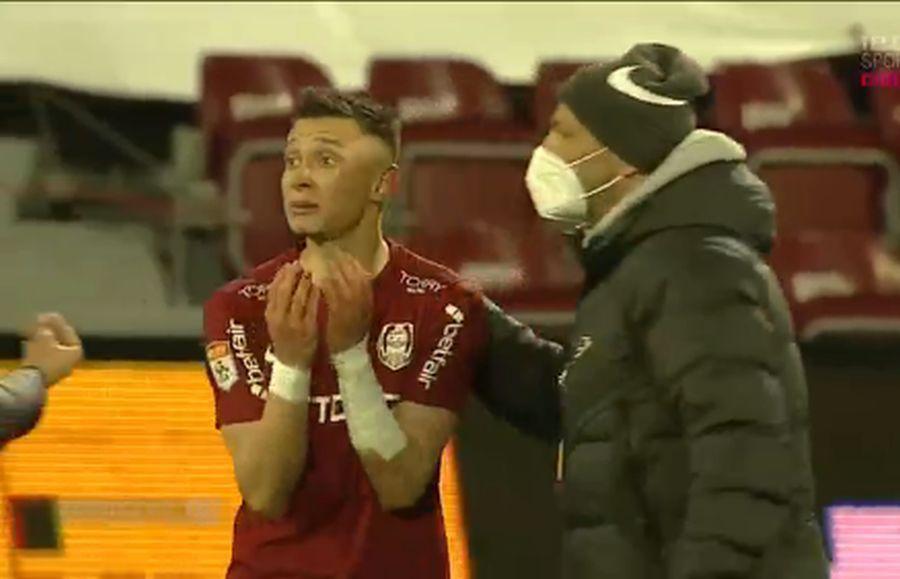 Scandal pe teren după CFR - Dinamo » Doi jucători, despărțiți cu greu de colegi! Arbitrul a intervenit + pierderi uriașe pentru derby-ul cu Craiova