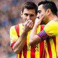 Lionel Messi și Xavi, în 2014: foto: Guliver/Getty Images